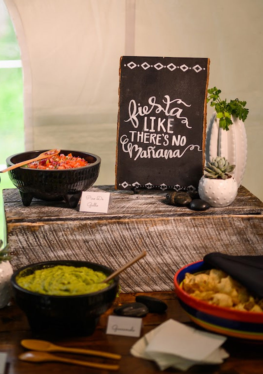 Guacamole and Salsa Bar_